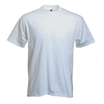 Cotton Crew Neck School PE T Shirt in White