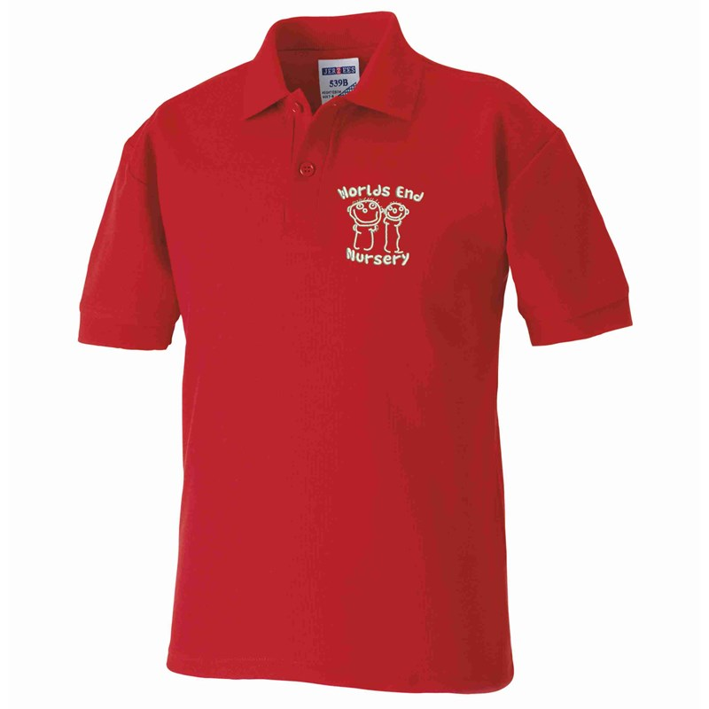 Nursery Poloshirt, embroidered logo