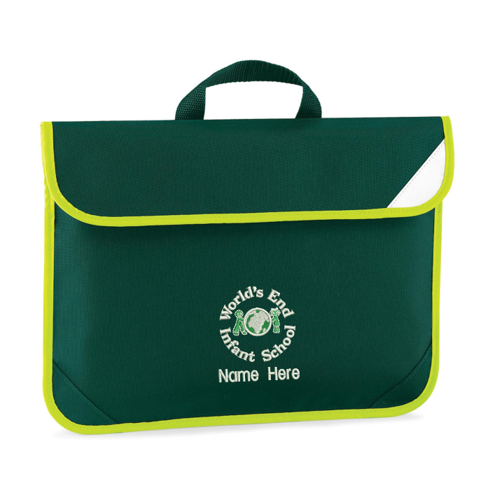 Hi Viz Trimmed School Book Bag with embroidered name of your choice